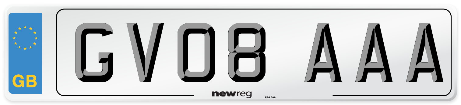 GV08 AAA Number Plate from New Reg