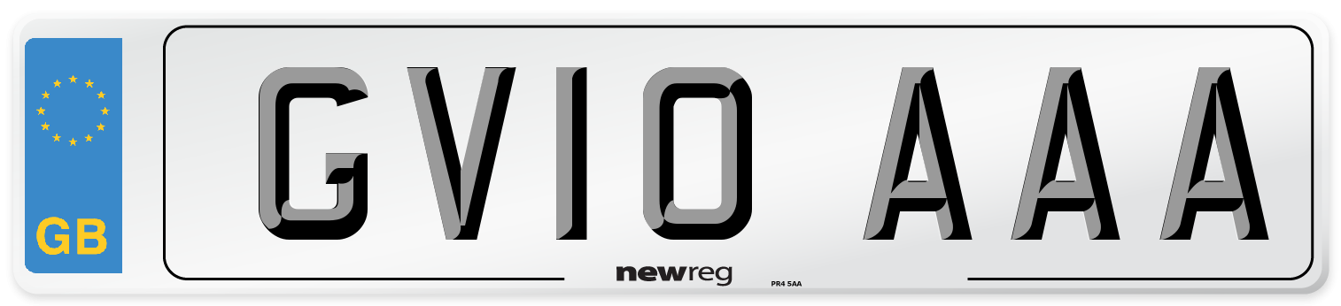 GV10 AAA Number Plate from New Reg