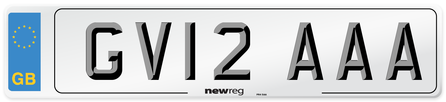 GV12 AAA Number Plate from New Reg
