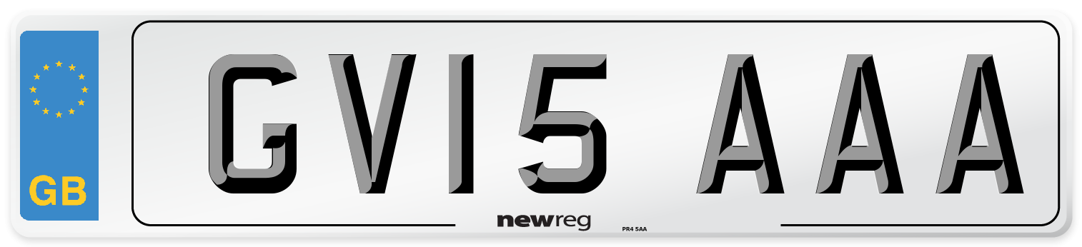 GV15 AAA Number Plate from New Reg