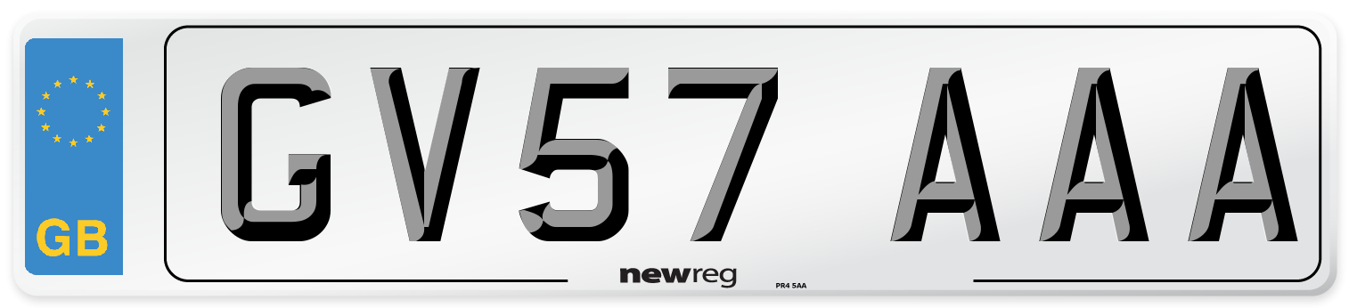GV57 AAA Number Plate from New Reg