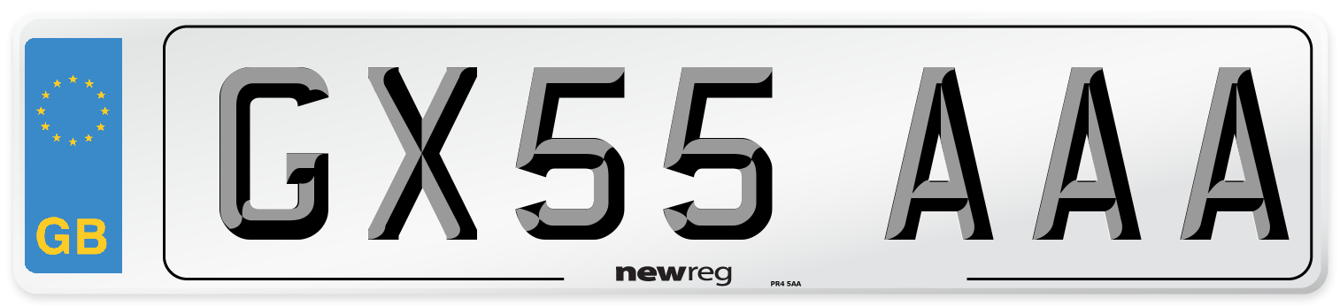 GX55 AAA Number Plate from New Reg