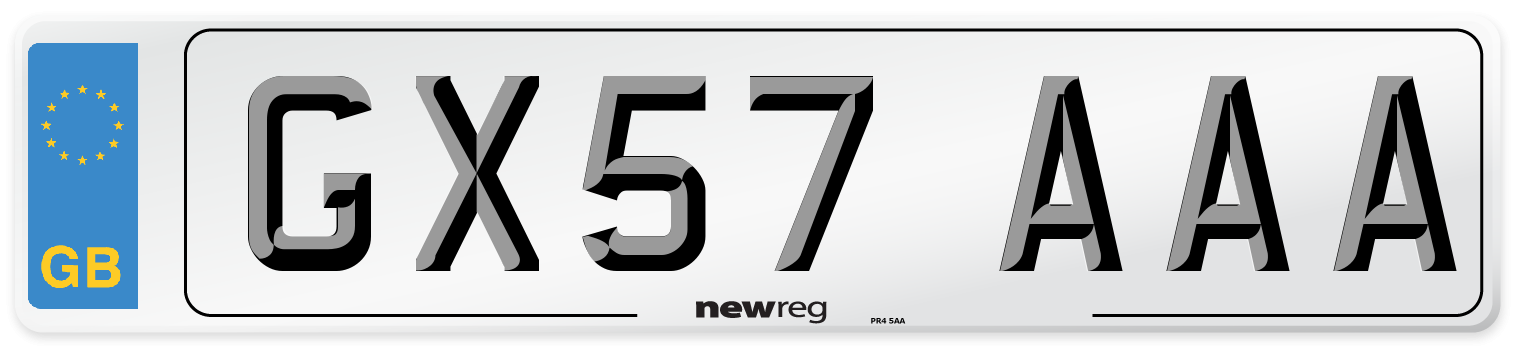 GX57 AAA Number Plate from New Reg