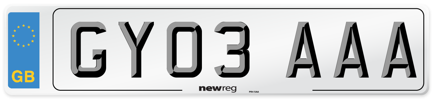 GY03 AAA Number Plate from New Reg