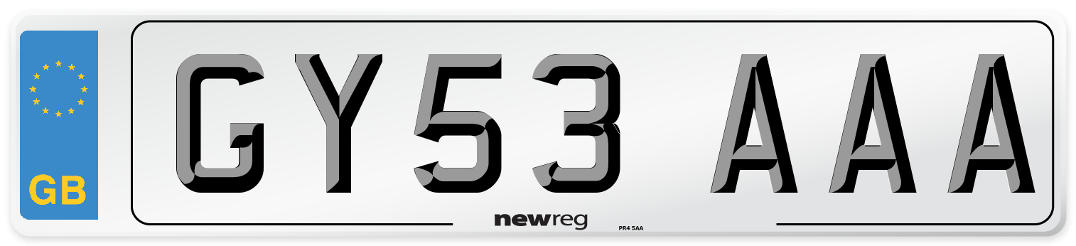 GY53 AAA Number Plate from New Reg
