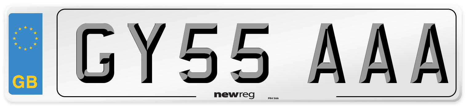 GY55 AAA Number Plate from New Reg