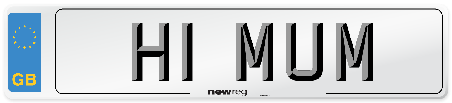 H1 MUM Number Plate from New Reg
