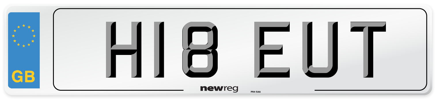 H18 EUT Number Plate from New Reg
