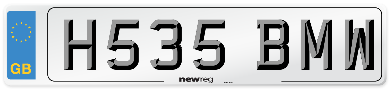 H535 BMW Number Plate from New Reg