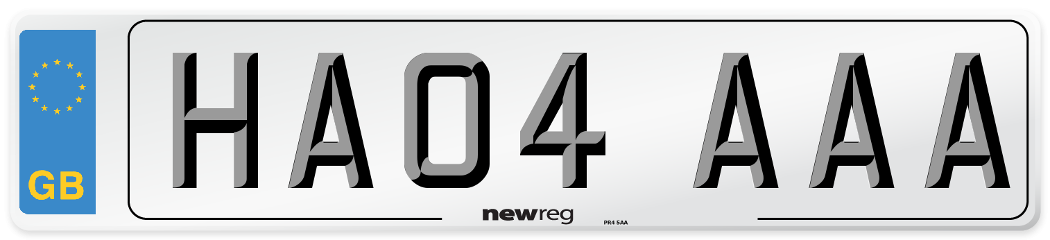 HA04 AAA Number Plate from New Reg