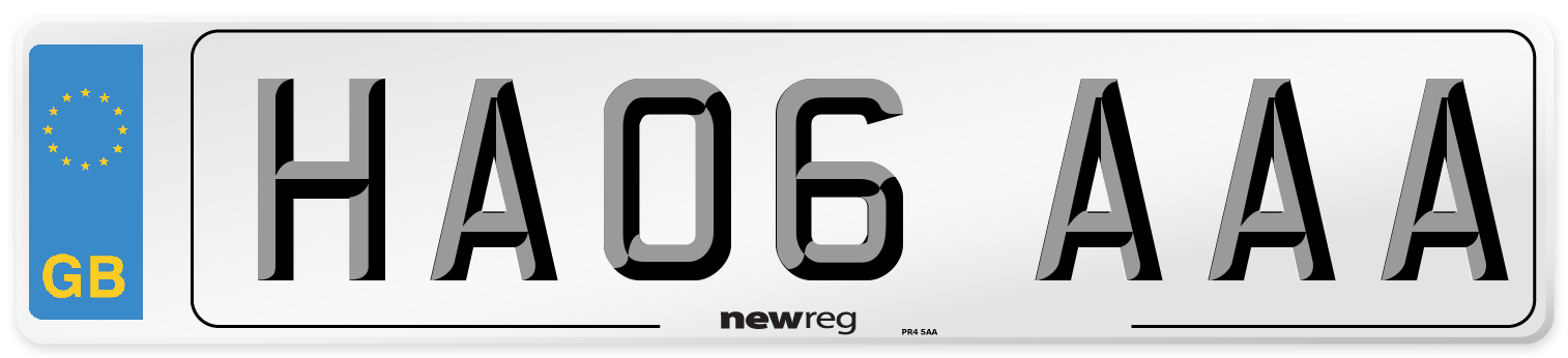 HA06 AAA Number Plate from New Reg