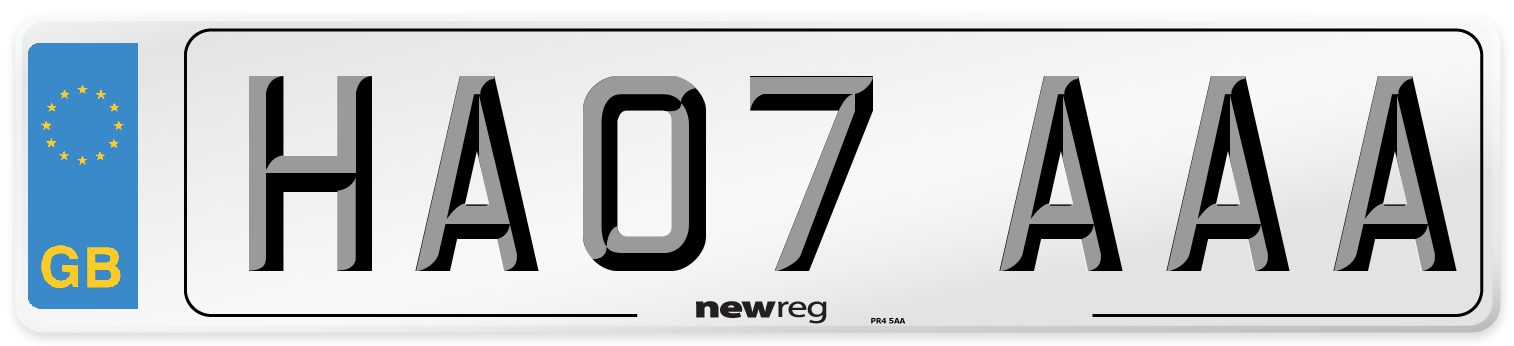 HA07 AAA Number Plate from New Reg