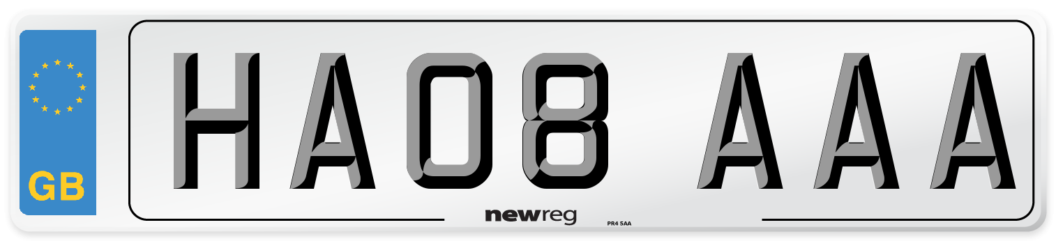 HA08 AAA Number Plate from New Reg