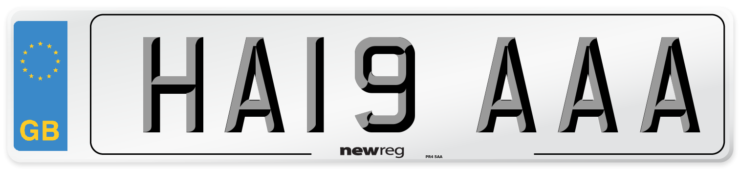 HA19 AAA Number Plate from New Reg