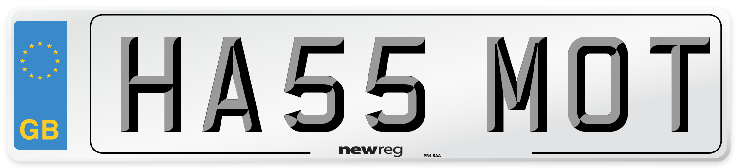 HA55 MOT Number Plate from New Reg
