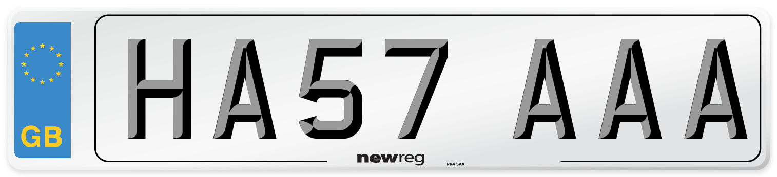 HA57 AAA Number Plate from New Reg