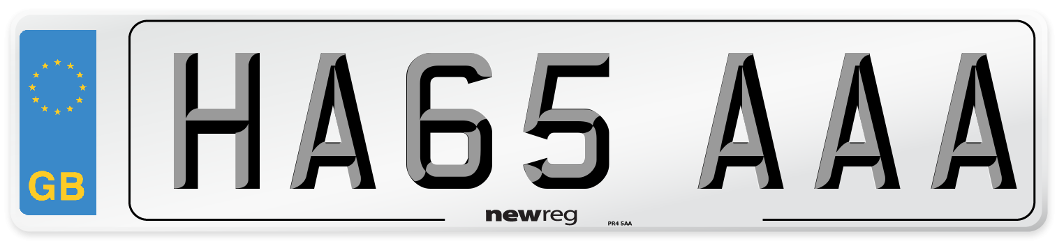 HA65 AAA Number Plate from New Reg