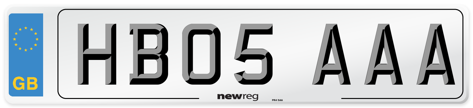 HB05 AAA Number Plate from New Reg