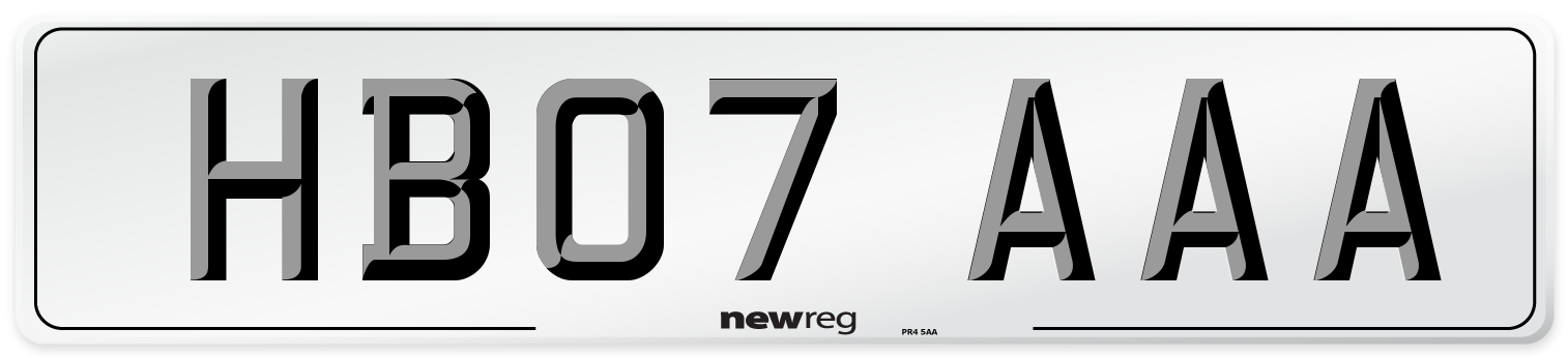 HB07 AAA Number Plate from New Reg