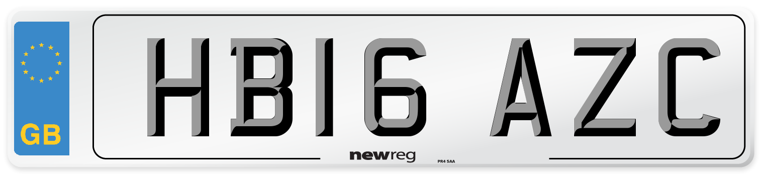 HB16 AZC Number Plate from New Reg