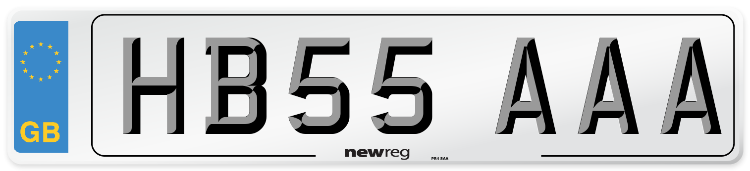 HB55 AAA Number Plate from New Reg