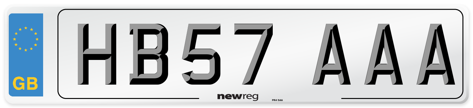 HB57 AAA Number Plate from New Reg