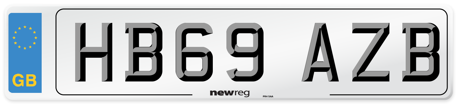 HB69 AZB Number Plate from New Reg