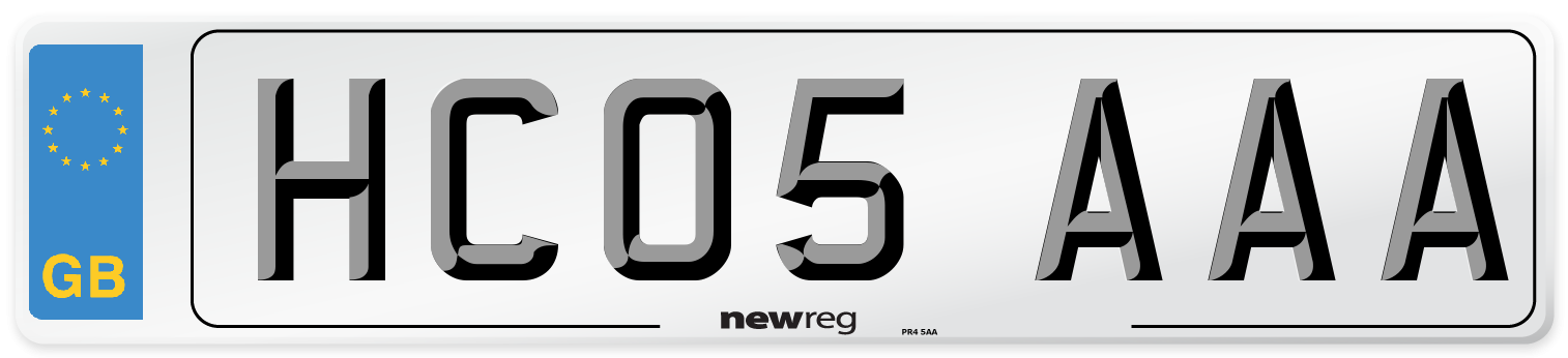 HC05 AAA Number Plate from New Reg