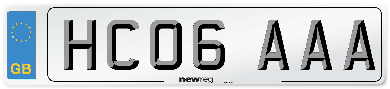 HC06 AAA Number Plate from New Reg