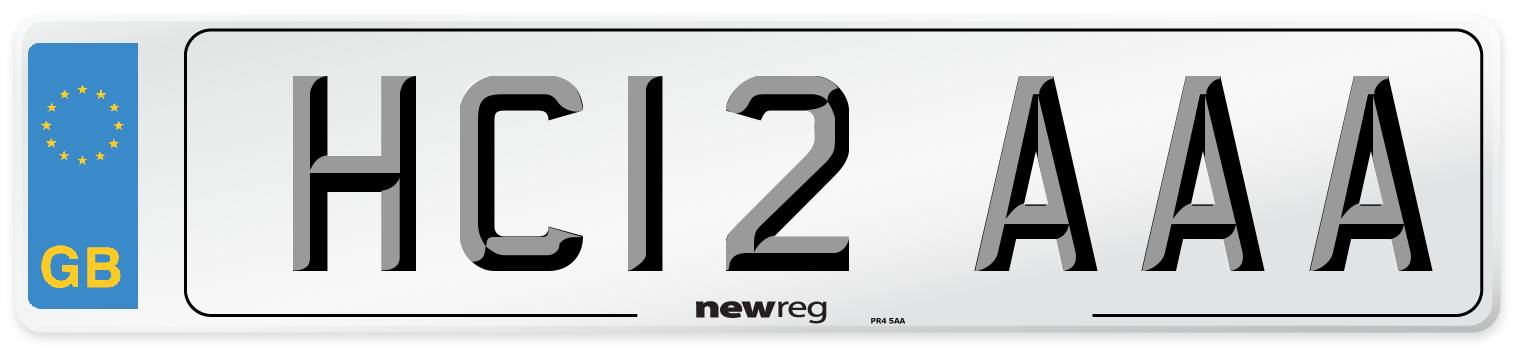 HC12 AAA Number Plate from New Reg