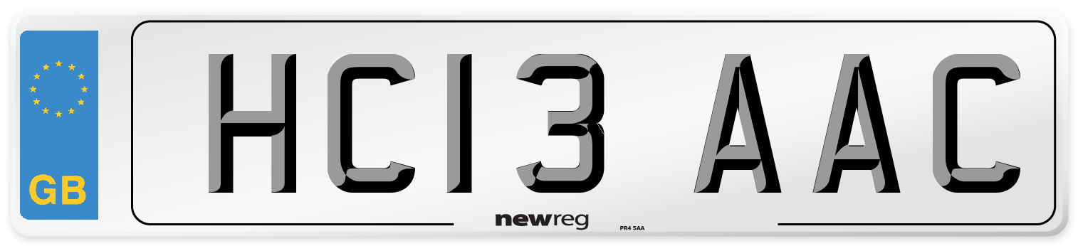 HC13 AAC Number Plate from New Reg
