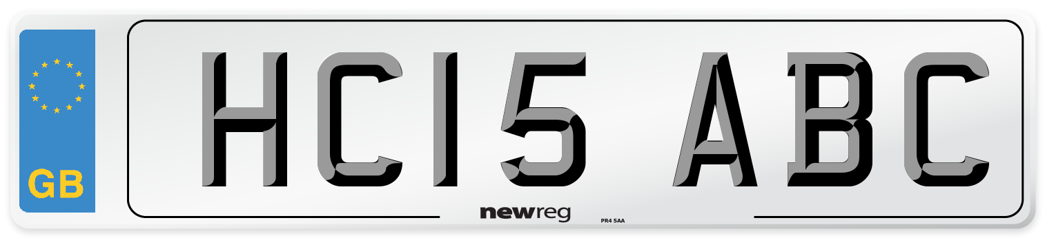 HC15 ABC Number Plate from New Reg