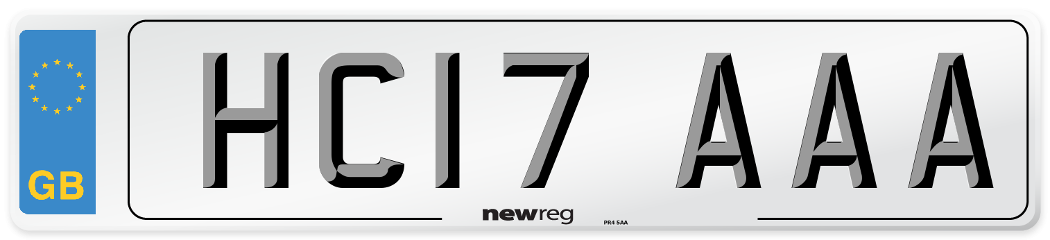 HC17 AAA Number Plate from New Reg