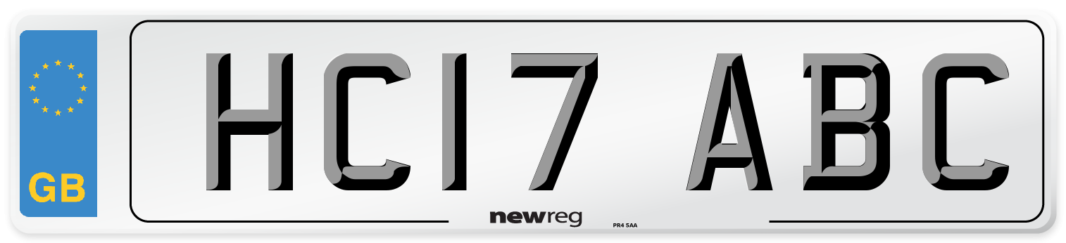 HC17 ABC Number Plate from New Reg