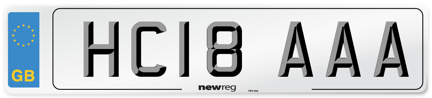 HC18 AAA Number Plate from New Reg