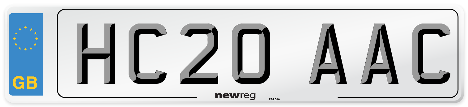 HC20 AAC Number Plate from New Reg