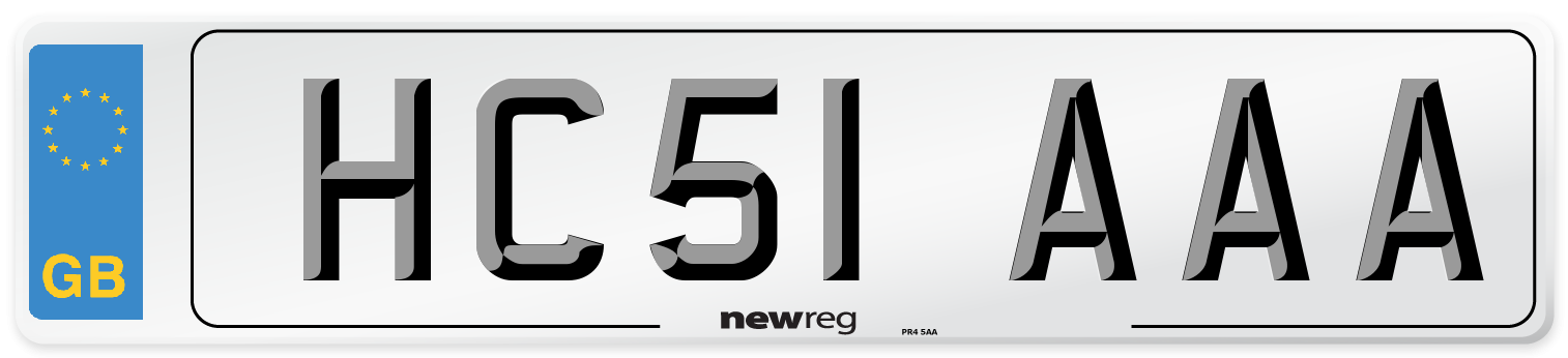 HC51 AAA Number Plate from New Reg