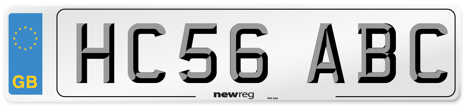 HC56 ABC Number Plate from New Reg