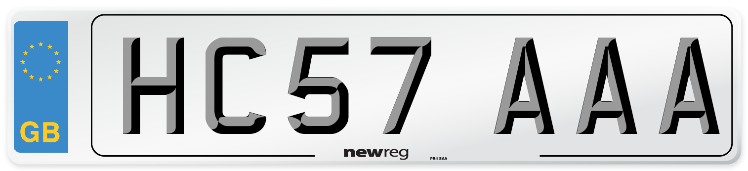 HC57 AAA Number Plate from New Reg