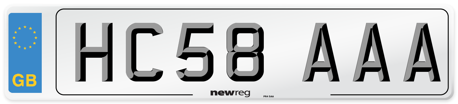 HC58 AAA Number Plate from New Reg