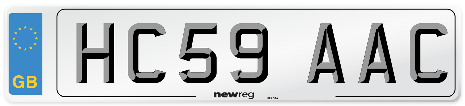 HC59 AAC Number Plate from New Reg