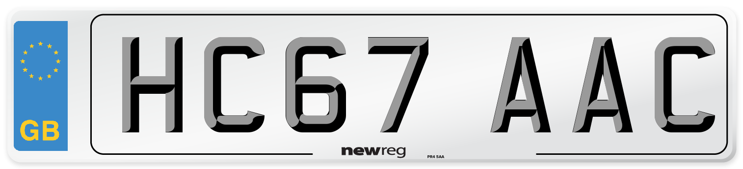 HC67 AAC Number Plate from New Reg