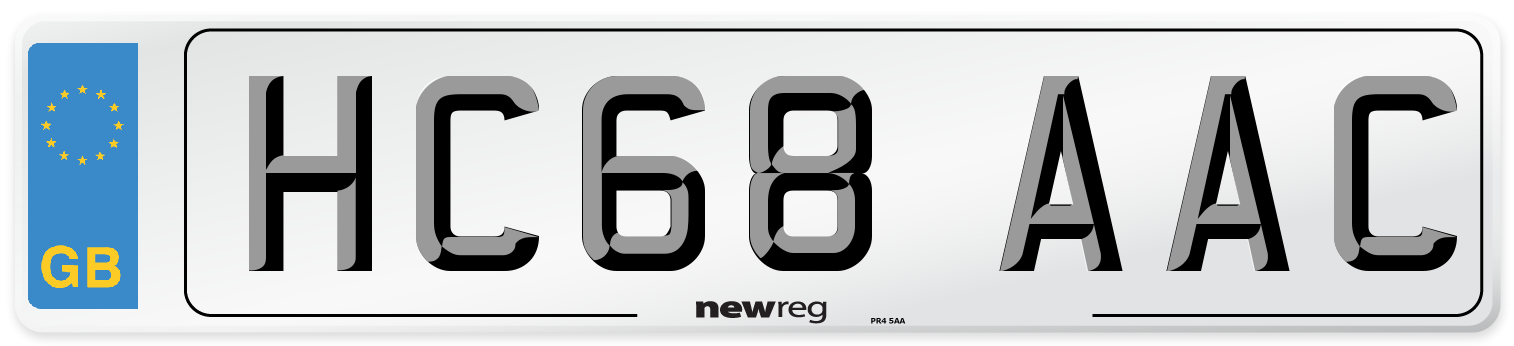 HC68 AAC Number Plate from New Reg