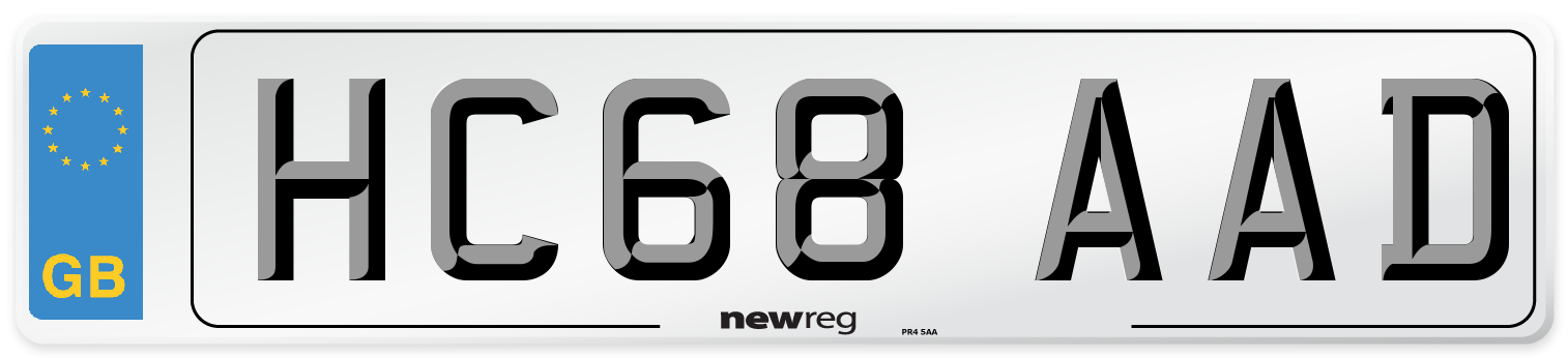 HC68 AAD Number Plate from New Reg