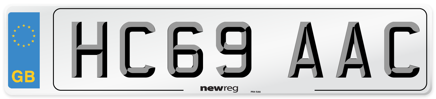 HC69 AAC Number Plate from New Reg