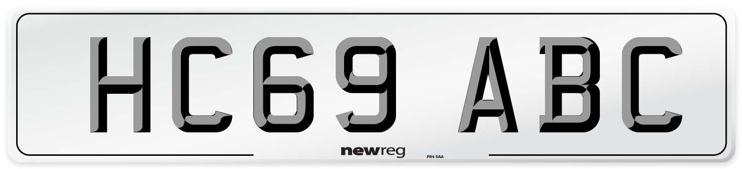HC69 ABC Number Plate from New Reg