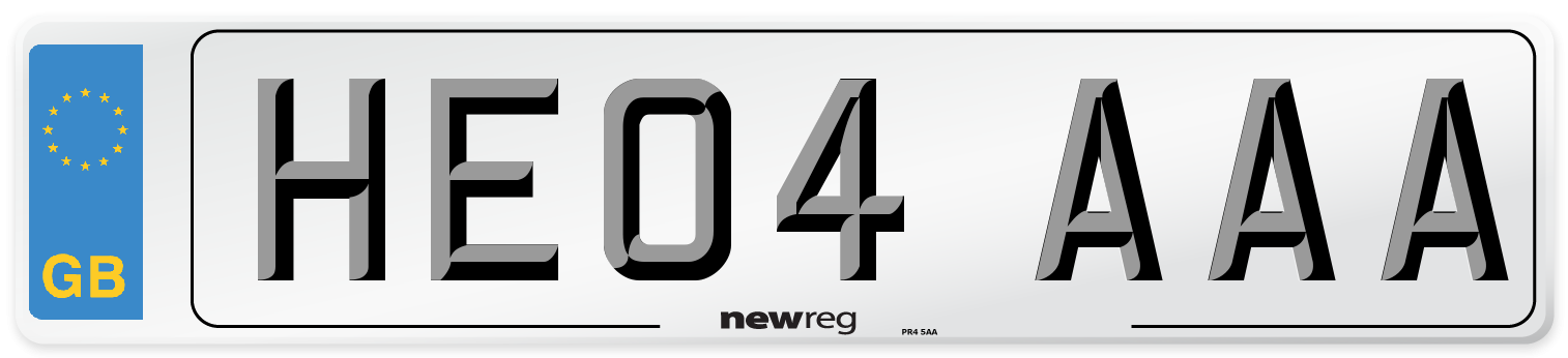 HE04 AAA Number Plate from New Reg
