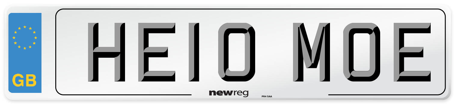 HE10 MOE Number Plate from New Reg