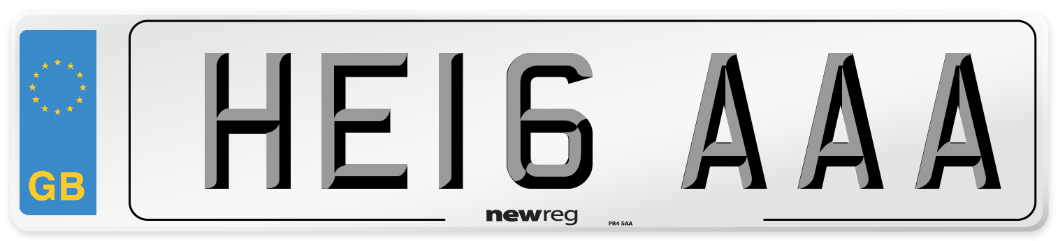 HE16 AAA Number Plate from New Reg