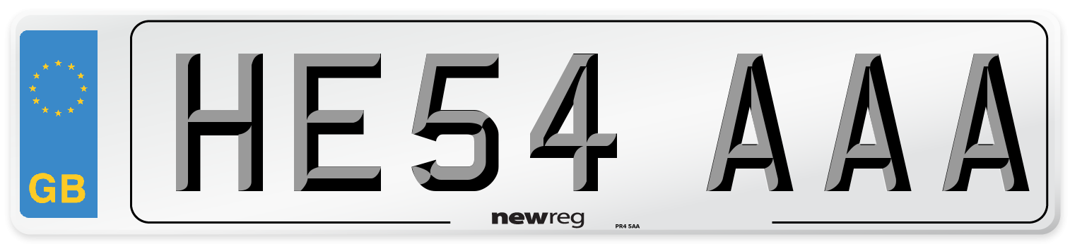 HE54 AAA Number Plate from New Reg